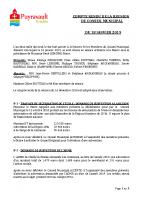 Compte Rendu de la reunion du conseil municipal du 18 janvier 2019