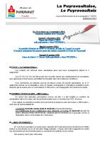 SEPTEMBRE 2019 : LA PUYRAVAULTAISE, LE PUYRAVAULTAIS