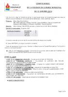 Compte Rendu du Conseil Municipal du 31 janvier 2020
