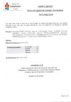 Compte Rendu de la réunion de conseil municipal du 05 juin 2020