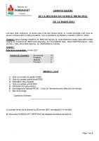 Conseil municipal du 12 mars 2021