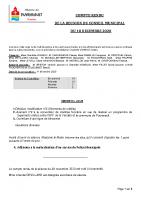 compte rendu du conseiul municipal du 18 decembre 2020